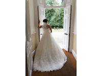 Maggie Sottero Couture Ivory Lace Wedding Dress- Size 12