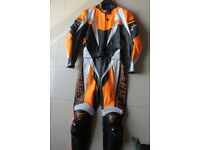 DAINESE Ladies Two Piece Leathers Orange & Black sz 46 UK 12 AsNew Worn Twice