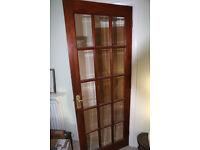 Mahogany Hardwood internal glazed doors Bevelled glazing 2 available