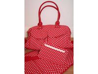 NEXT Red and White Spotty Changing Bag