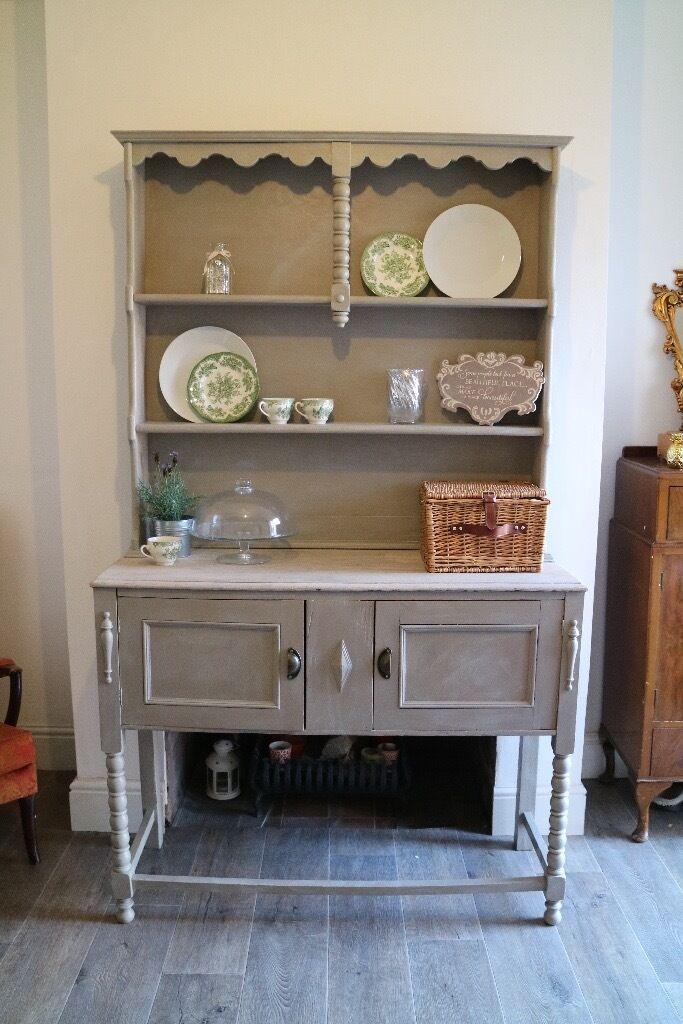 Shabby Chic Welsh Dresser Oak Kitchen Dresser Farmhouse Dresser