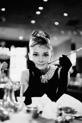 Audrey Hepburn Breakfast at Tiffanys Movie Film Audrey Hepburn Poster 24x36 (Audrey Hepburn Breakfast)