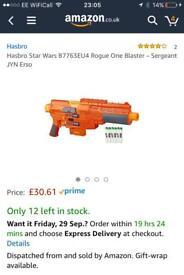 BNIB Star Wars Nerf Gun