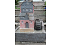 water mill garden feature complete will pump 18inches square 24 inches hight very good cond. £70