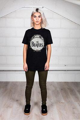 Official The Beatles Original Drum Skin Unisex T-Shirt Rubber Soul Revolver Let Beatles Rubber Soul Skin
