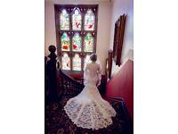 Beautiful Allure 9206 Wedding Dress. Size 8 petite fit