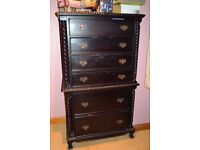 Queen Anne style Tallboy Chest of drawers in Mahogany finish