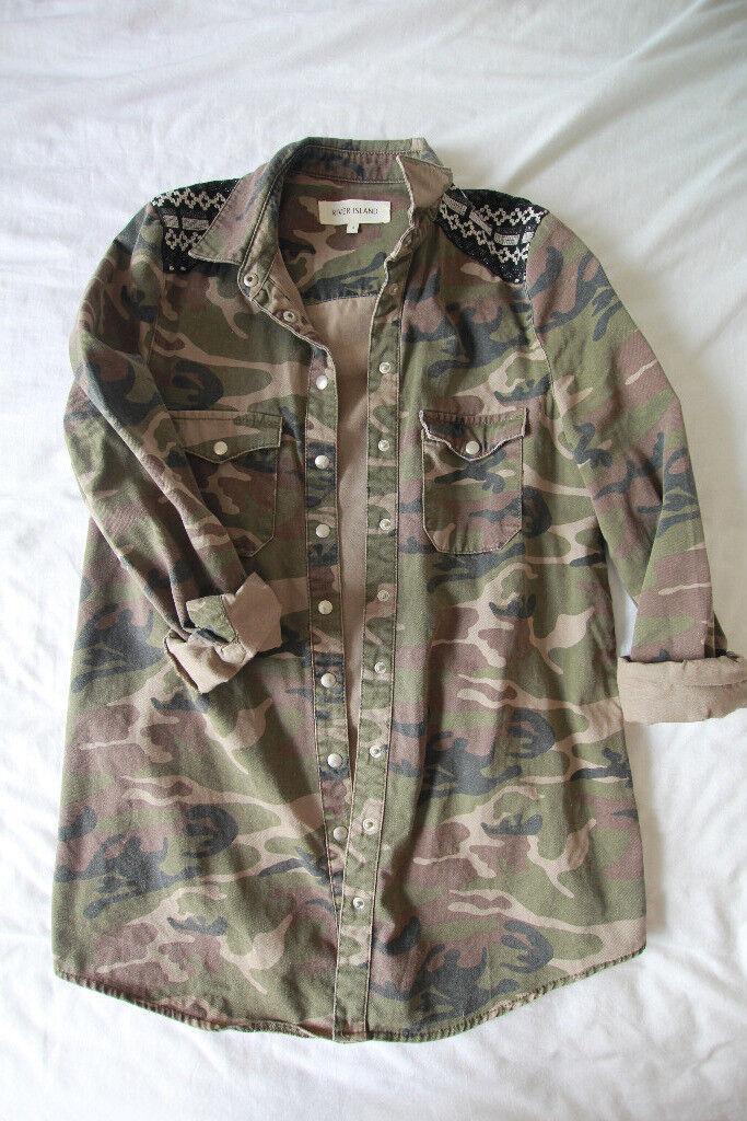 River Island Camo shirt, size 8