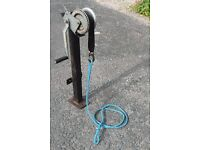 Trailer winch and mounting post