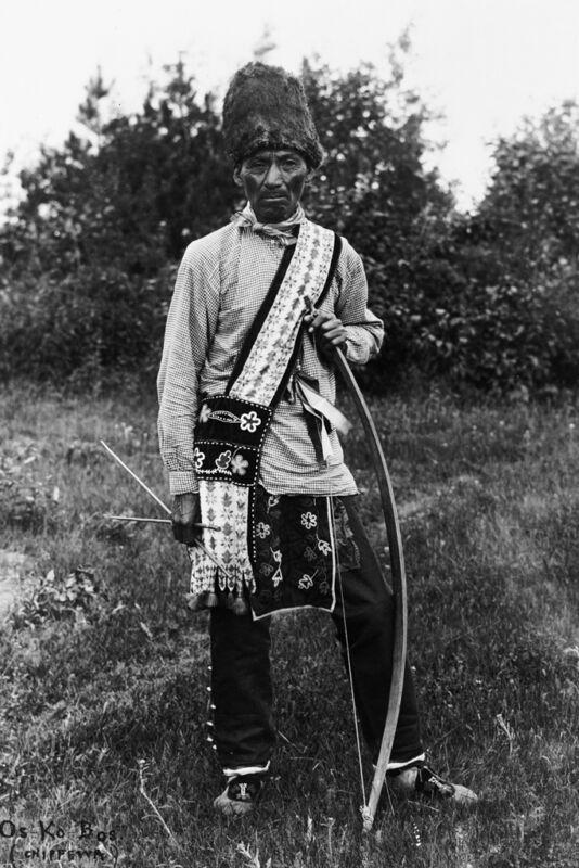 New 5x7 Native American Photo: Os Ko Bos of Osage North American Indian Tribe