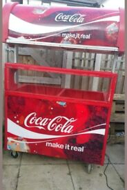 Coca cola mobile catering vending cart kiosk