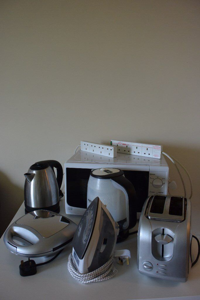Kitchen Appliances Kettle Iron Toaster Microwave