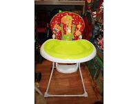 Mothercare Giraffe Highchair - folds flat