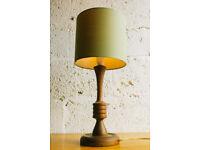 VINTAGE RETRO MID CENTURY OAK TABLE LAMP
