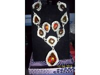 ladies vintage necklace and matching clip-on earrings would make a great gift