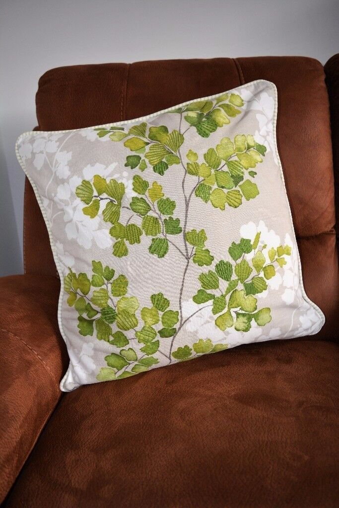 Next Leaves and Branches Cushion with Embroidery Detailing