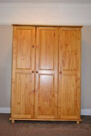 Julian Brown Wardrobes, (1 x 2 Door + 1 lower drawer) + (1 x 3 door) + 1 x 6 Drawer Chest + Ottoman