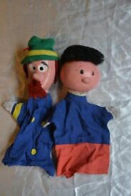 Set of 2 Vintage 1970s Magic Roundabout puppets