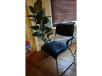 Faux leather metal chair from Sweden
