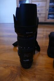 sigma 70-200 f/2.8 ex dg os hsm nikon fit with clamp and filter as new never used