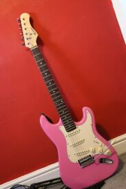 Pink Electric Guitar (Slight wear and missing 1 string)