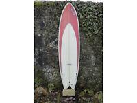 CAN SEND, VUDU Surfboard 6'6 long fish, thruster, twin fin, SET, 40L, Fun Board,