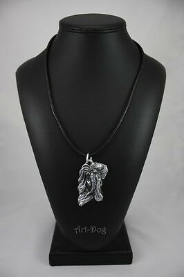 Fresian Horse, silver covered necklace, high qauality Art Dog