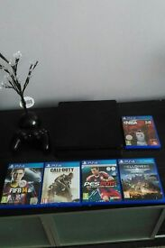PS4 slimline 500gb slimline PS4 with 5 games £200 no offers at all