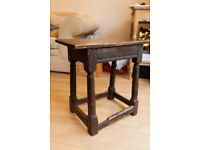 Antique 17th Century Oak Stool