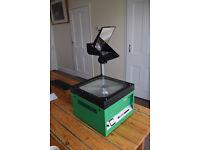 overhead Projector. SASCO Green Lantern, with colour fringe Eliminater.