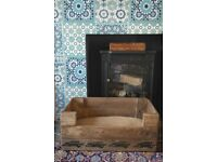 Dog bed, Wooden Vintage Style,Run Rabbit! Hand Made
