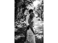 Beautiful Boho/romantic lace Wedding Dress Designer Yolan Cris Size 10