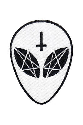 KILLSTAR EARTHLINGS PATCH UFO GRAY ALIENS FLYING SAUCER GOTHIC WITCH OCCULT EMO Clothing, Shoes & Accessories