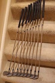 Titleist DCI Golf Irons - full set - 3-SW - Stiff shafts except SW which is a regular shaft.