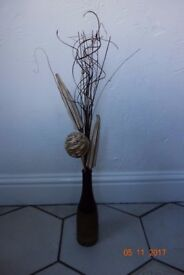 2 tone Ball and Reed ornament