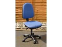 Professional grade high back office swivel task chair used - on castors - arms option - AllinsiteUK
