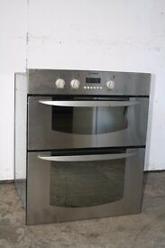 Indesit Built-In Under Counter Double Oven Digital Display Good Condition 12 Month Warranty