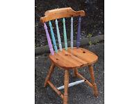 Shabby chic Pine Farmhouse Painted chair