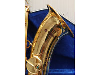 Yamaha YTS62 tenor saxophone, Purple logo - first generation, with new Hiscox Pro II case