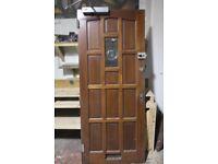 Interior wood & glass doors and solid hardwood front door