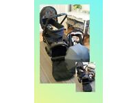 Pram, stroller, car seat, trolley, buggy, 3 in 1 travel system, baby clothes 3-6, play mat