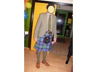 SCOTTISH HIGHLAND GREEN TWEED DRESS JACKET size 40