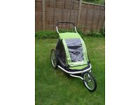 Croozer Kid for 2 - double bike trailer, jogging buggy and stroller