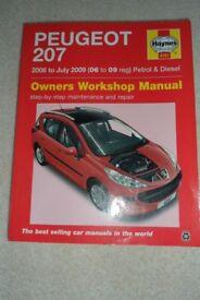 Haynes Owners Workshop Manual, Peugeot 207, 2006 to July 2009 (06 to 09reg) Petrol and Diesel