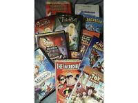 18 family childrens dvds (Disney Dreamworks etc)