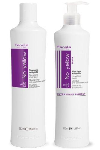 KIT Fanola – No Yellow Shampoo & Maschera Antigiallo per Capelli Grigi 350ml
