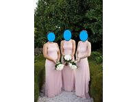 4 X Ballet Pink Bridesmaid Dresses