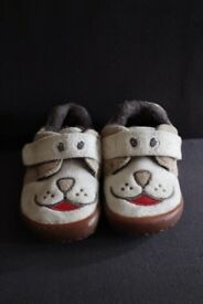 Clarks Doodles Slippers Shoes Dog Style Size 4G (20W) Infant