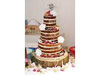 Naked Cakes or Semi Naked available to order, single or multi tier for any occasion!