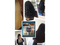 Hair extensions fitting service